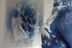 Cyanotype. Textile Scuplture. Mary Craven, St Martin's Church ©Angela Chalmers