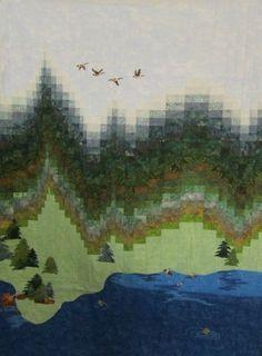landscape bargello quilt