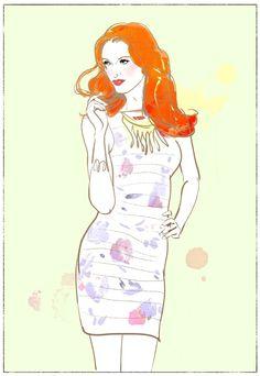 Silke Bachmann Illustration Fashion Illustrator