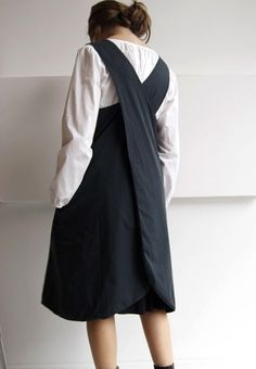 Cross over apron dress,