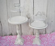 Cupcake stand addiction!  How you taunt me!         Ornate PEDESTAL  Heirloom White  Shabby by VintageEvents, $16.00