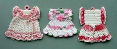 Vintage dress potholders