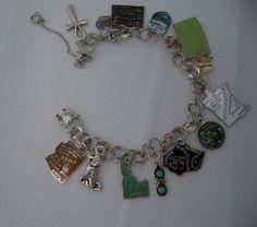 Sterling Silver Travel Charm Bracelet 1970s  by PurpleMoonVintage, $112.00