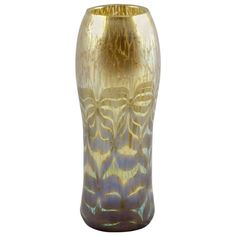 Gorgeous Loetz Vase with Golden Maximia Decor, ca. 1906 | From a unique collection of antique and modern vases at http://www.1stdibs.com/furniture/dining-entertaining/vases/