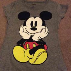 Front and back mickey mouse shirt New without tags. never worn but ripped the tags off when i bought it. Disney Tops
