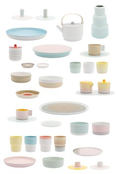 Colour Porcelain by Scholten & Baijings. Tableware based on the archives of hand-painted porcelain company 1616 / Arita Japan.