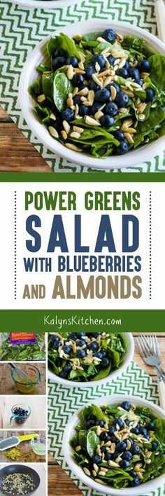 Whenever I have fresh blueberries I love to make this Power Greens Salad with…