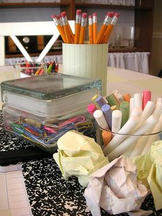 Back to school party centerpiece