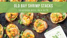 Bring all the flavor of an old fashioned seafood boil indoors with this recipe for Old Bay Shrimp Stacks from Street Smart Nutrition