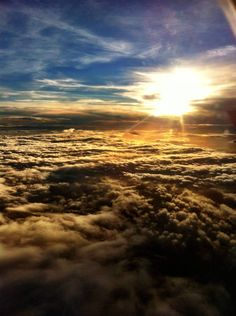 pic taken on an iphone through and airplane window. I love this, whenever I fly & I get above the clouds I always feel the greatest sense of peace, like I'm closer to God. I think this is what heaven will look like except you'll be able to walk on the clouds