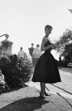 Audrey on set of Sabrina
