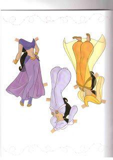 Printable Disney Princess paper dolls