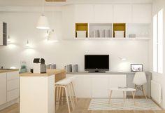 Petite surface - aménagement - studio - rénovation - décoration - agence d'architecture intérieure - décoration. Lyon - Rhône-Alpes. Coloriste - diplômée