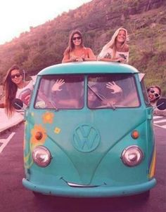 Free spirit - on the road in a VW bus