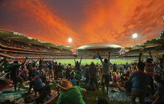 India beat Pakistan in the Cricket World Cup, but this incredible sunset during the match may have stolen the show.
