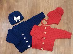 Free pattern Ravelry: Peyton Baby Cardigan & Hat pattern by michelle stalker