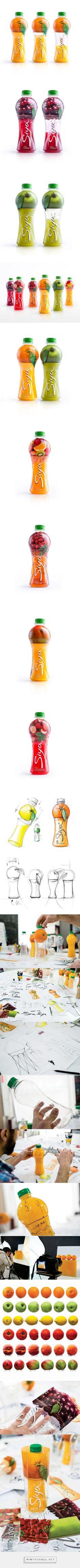 Fruit + juice glass = Fresh juice packaging - design by Backbone Branding (Armenia) - http://www.packagingoftheworld.com/2016/04/siya.html: