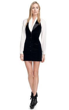 Byrdie Halter Tuxedo Dress by Rachel Zoe - Moda Operandi Rachel Zoe Clothing, Tuxedo Dress, Latest Fashion For Women, Feminine, Wasting Time, My Style, Blazers, Dragon, Profile