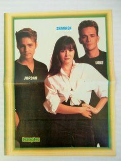 90210 Shannen Luke Jordan Paula Abdul Double Side Poster 1980's Greek Magazine   eBay