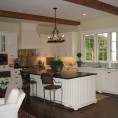 Low Ceiling With Beams Design Ideas, Pictures, Remodel and Decor