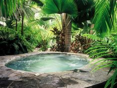 The History of Jacuzzi Outdoor Refuted Some Jacuzzi bathtubs have the capacity to run even when there's no water in the tub. Deciding upon a Jacuzzi bathtub on a normal bathtub has its benefits and disadvantages. Hot Tub Backyard, Small Backyard Pools, Small Pools, Pool Decks, Small Patio, Oasis Backyard, Garden Oasis, Spa Design, Design Ideas
