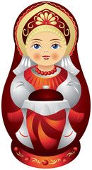 Matryoshka doll with the bread and salt