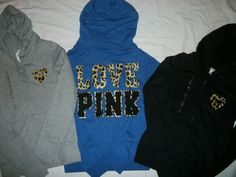 cute victoria secret Pink hoodies