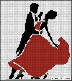 Вальс танец схема скачать пара монохром вышивка
