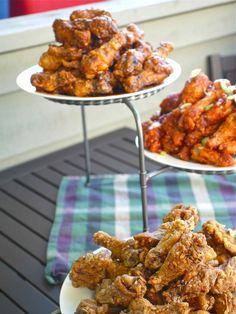 3 chicken wing recipes.