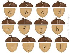 Freebielicious: Acorn Alphabet Match Freebie