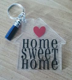 Personalized Keychain - Home Sweet Home.  #realtors #closing #firsttimebuyers #homeowners #realestate #gift