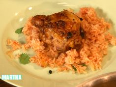 ... Jaffrey makes flavorful chicken with vindaloo spices and tomato rice
