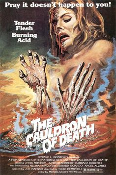 Cauldron of Death - actually an Italian crime film packaged as a horror film!
