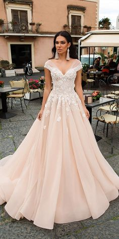 innocentia wedding dresses a line sweetheart floral blush colored 2019