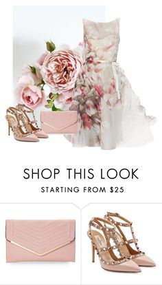 """Rose Mimicry #6"" by arrow1067 ❤ liked on Polyvore featuring Monique Lhuillier, Sasha and Valentino"