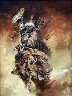 A Mongol horse archer
