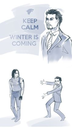 Tony being a dork and entering every room just before Bucky does so he can loudly announce that winter is coming // YES
