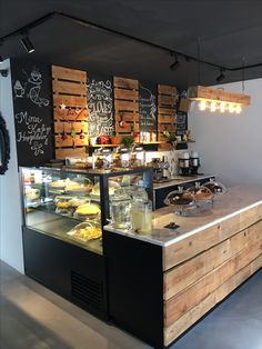 Cafe service counter