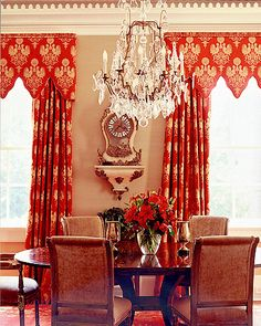 Romantic in red | C. Weaks Interiors, Inc. #diningrooms