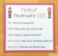 Notruf absetzen in der Grundschule Here I introduce to you, how to practice with the children, the discontinuation of an emergency call in elementary school with the help of 5 W questions as action-oriented as possible. I School, After School, Primary School, Elementary Schools, Science Student, Social Science, Education System, Art Education, Us Universities