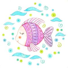 Embroidery Sewing kit: The little fish-01   http://elpetitcaracol.blogspot.com.es/