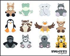 Cuddly Animals Part II SVG Collection