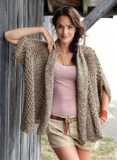 Bergère de France - Mag 166 - #09 - Wide jacket - yarns and patterns for knitting and crochet