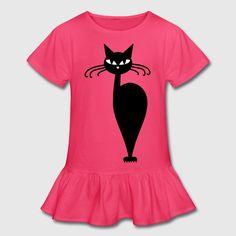 cat fashion 13 (2c) Kids' Shirts - Girl's Ruffle T-Shirt