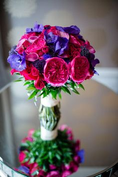 #pink and purple #bouquet by Rick's Flowers (Photo by Michelle Lindsay)