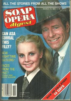 Soap Opera Digest March 17, 1981 Julie Montgomery and Phil Carey, One Life to Live on the Cover