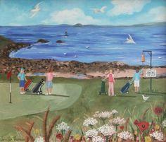 Artist Jennifer Thomson's illustration of one of the holes on Elie Golf Course.