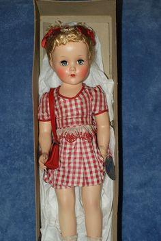 "Pretty Vintage 17"" Arranbee R&B Nancy Lee Hard Plastic Doll All Original In Box"