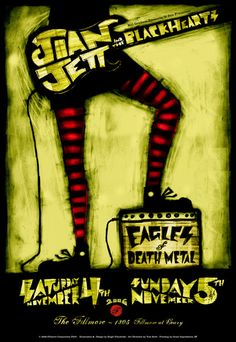 Joan Jett And The Blackhearts concert poster Classic heavy metal rock psychedelic music poster ☮~ღ~*~*✿⊱ レ o √ 乇 !! ~