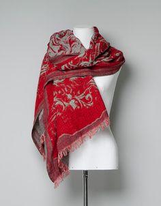 lovely scarf in red (zara)